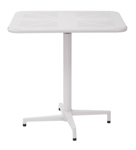 Albany Modern Metal White 30 Inch Square Folding Table OSP-ALB43211-11