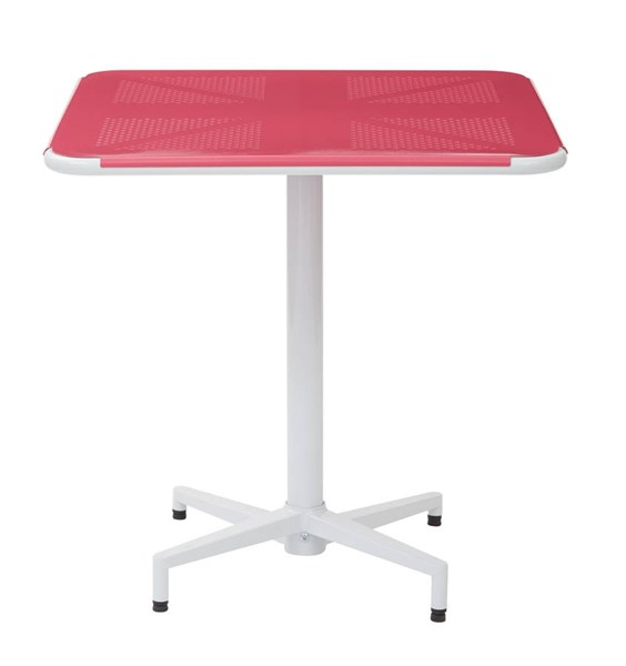 Albany Modern Metal Pink 30 Inch Square Folding Table OSP-ALB43211-C216