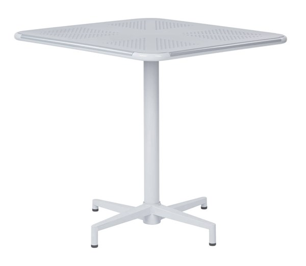 Albany Modern Pastel Quarry Metal 30 Inch Square Folding Table OSP-ALB43211-P704