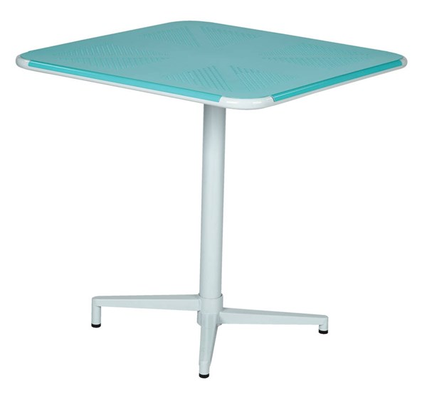 Albany Modern Metal Pastel Teal 30 Inch Square Folding Table OSP-ALB43211-P705
