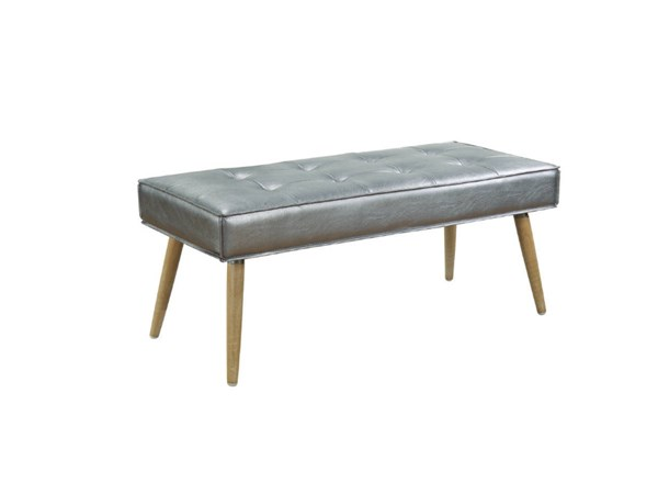 Amity Contemporary Sizzle Fabric with Chrome Legs Bench OSP-AMT24-S52-BNCH-VAR