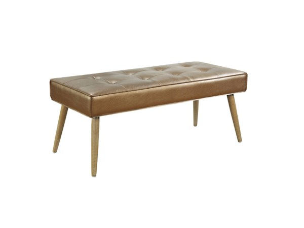 Amity Contemporary Sizzle Copper Fabric with Chrome Legs Bench OSP-AMT24-S53