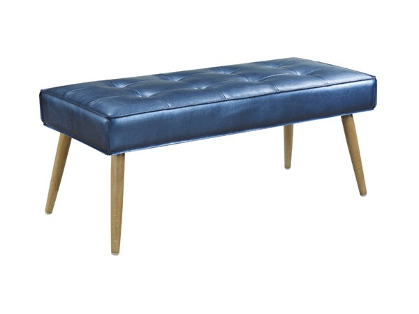 Amity Contemporary Sizzle Azure Fabric with Chrome Legs Bench OSP-AMT24-S54