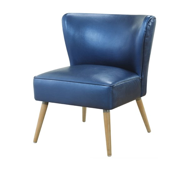 Amity Contemporary Sizzle Azure Fabric with Chrome Legs Side Chair OSP-AMT51-S54