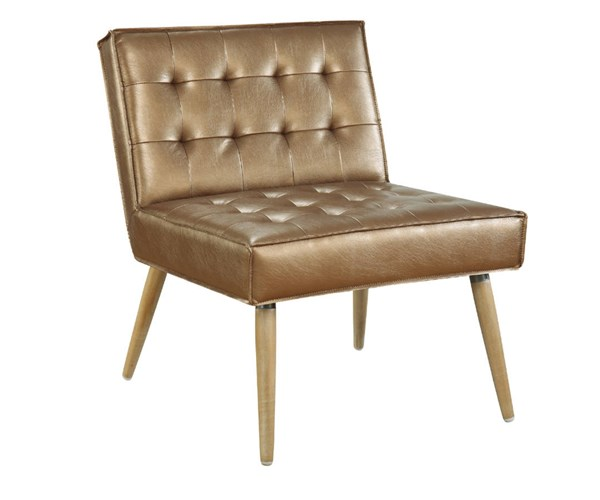 Amity Tuffed Sizzle Copper Fabric with Chrome Legs Accent Chair OSP-AMT51T-S53