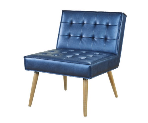 Amity Tuffed Sizzle Azure Fabric with Chrome Legs Accent Chair OSP-AMT51T-S54