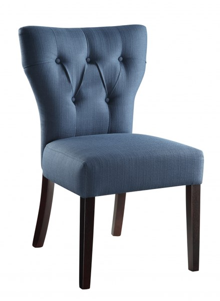Andrew Azure Blue Tufted Back Fabric Solid Wood Parson Chair OSP-AND-K14