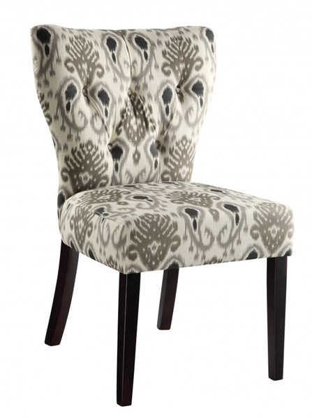 Andrew Blossom Grey  Tufted Back Fabric Solid Wood Parson Chair OSP-AND-M15
