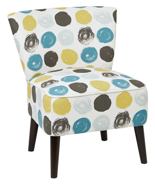Apollo Chair with Legs & Dot Peacock Fabric OSP-APL-R7-CH-VAR