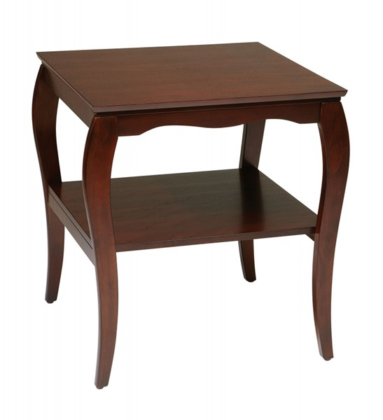 Brighton Transitional Cherry Espresso Mahogany Wood End Tables OSP-BN09-ET