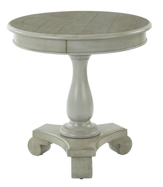 Avalon Traditional Antique Grey Wood Round Accent Table OSP-BP-AVLAT-YM19