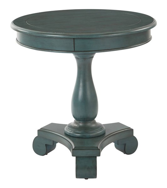 Avalon Traditional Caribbean Wood Round Accent Table OSP-BP-AVLAT-YM21