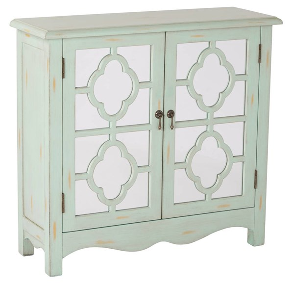Bayview Contemporary Mint Wood Storage Console OSP-BP-BAY17-FR5
