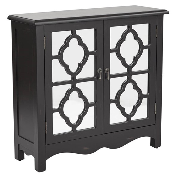 Bayview Contemporary Black Wood Storage Console OSP-BP-BAY17-FR3
