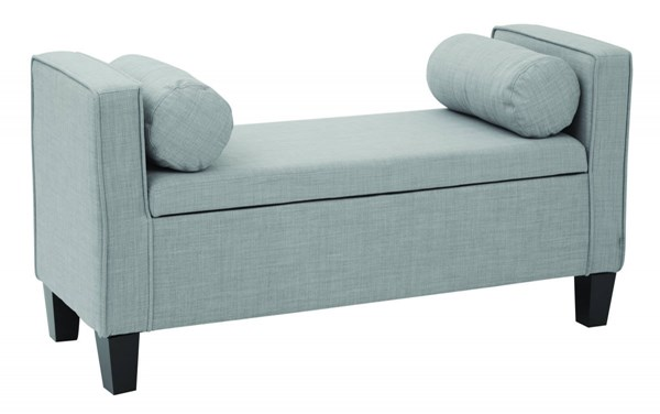 Cordoba Milford Dove Solid Wood Fabric Storage Bench w/Pillows OSP-BP-CBOT48-M24