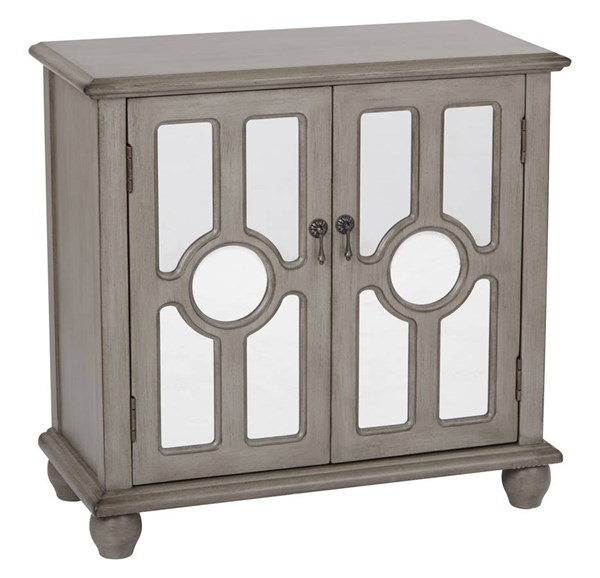 Kendra Contemporary Taupe Wood Storage Console OSP-BP-KENCSL-FR2