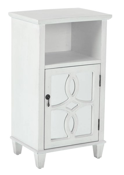 Medina Contemporary White Wood Accent Table OSP-BP-MED11-FR4