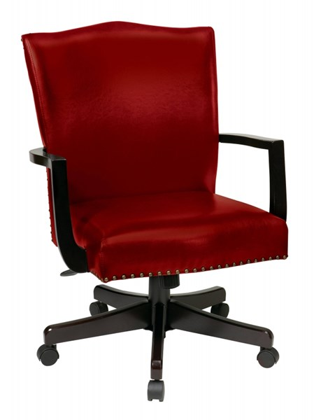 Morgan Traditional Red Bonded Leather Nailheads Managers Chair OSP-BP-MGTC-EC19