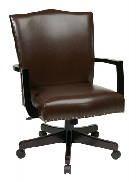 Morgan Traditional Espresso Bonded Leather Nailheads Managers Chair OSP-BP-MGTC-EC1