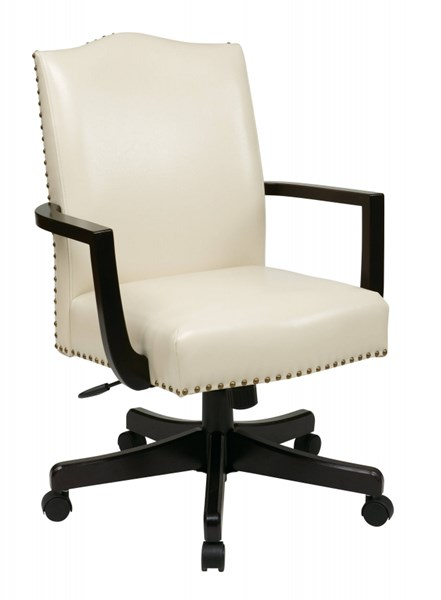 Morgan Traditional Cream Bonded Leather Nailheads Managers Chair OSP-BP-MGTC-EC28
