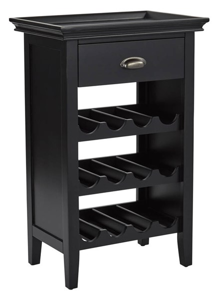 Portofino Contemporary Black Wine Grey Wood Storage Wine Cabinets OSP-BP-PORTWC-CAB-VAR