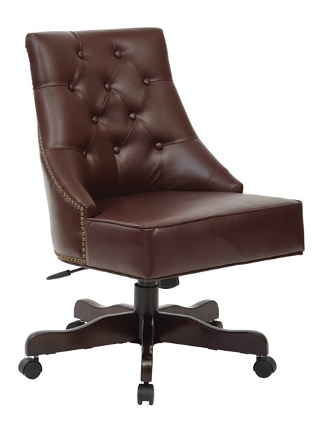 Rebecca Traditional Cocoa Bonded Leather Tufted Back Office Chair OSP-BP-REBEX-BD24