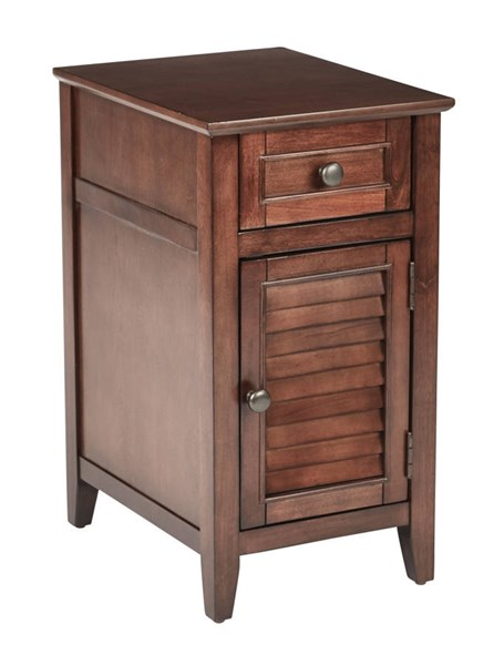 Brooke Rustic Chestnut Wood Fully Assembled Chair Side Table OSP-BRK08AS-CH