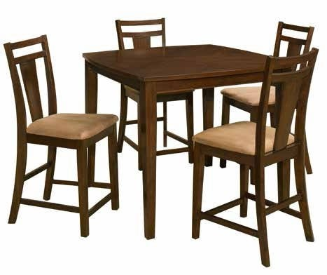 Brentwood Cherry Wood Brentwood 5 Piece Dining Set OSP-BRT432-CHY