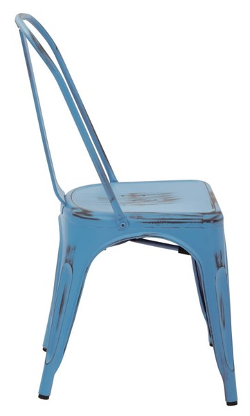 4 Bristow Modern Royal Blue Metal Armless Chairs OSP-BRW29A4-ARB