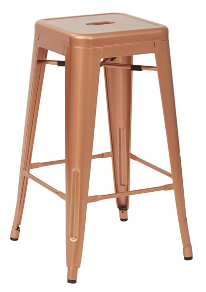 4 Bristow Modern Copper Metal 26 Inch Barstools OSP-BRW3026A4-CP