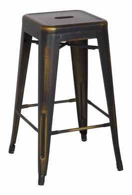 2 Bristow Modern Antique Copper Metal 26 Inch Barstools OSP-BRW3026A2-AC