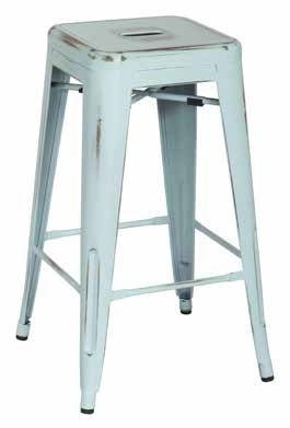 2 Bristow Modern Antique Sky Blue Metal 26 Inch Barstools OSP-BRW3026A2-ASB