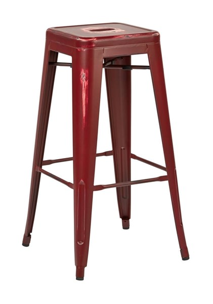 2 Bristow Modern Antique Red Metal 30 Inch Barstools OSP-BRW3030A2-ARD
