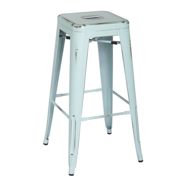 4 Bristow Modern Antique Sky Blue Metal 30 Inch Barstools OSP-BRW3030A4-ASB
