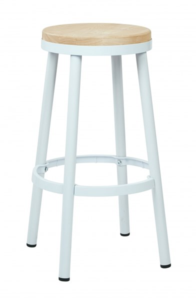 Bristow White Black Red Metal Wood Footrest 30 Inch Backless Barstools OSP-BRW3226-30-VAR