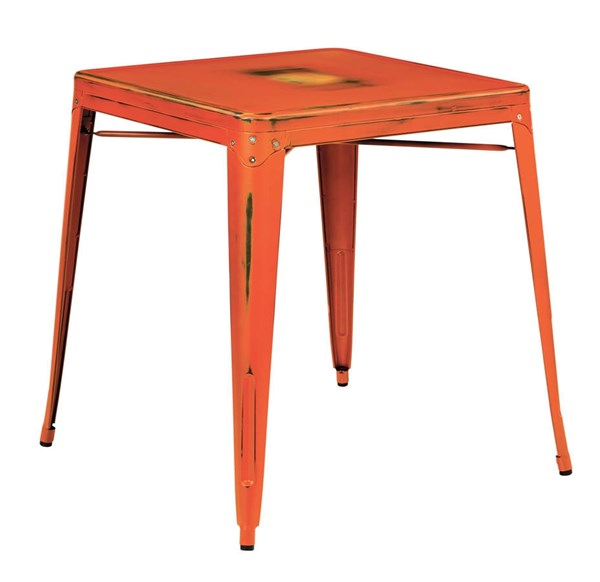 Bristow Modern Antique Orange Antique Metal Table OSP-BRW432-AOR