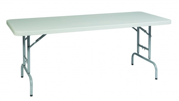 White 6 Feet Height Adjustable Resin Purpose Table OSP-BT06A