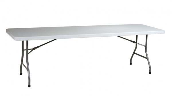 White Resin Multi Purpose 96 Inch Wide Rectangle Table OSP-BT08Q