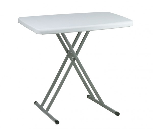 4 Resin White Rectangular Personal Tray Tables OSP-BT244