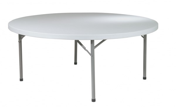 White Resin 71 Inch Round Multi Purpose Table OSP-BT71Q