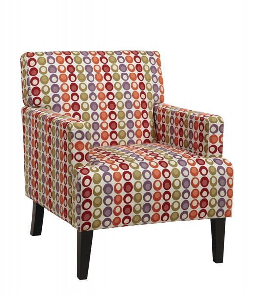 Carrington Modern Polyester Fabric Solid Wood Armchair