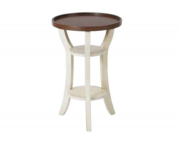 Casey Antique Beige Brown Round Accent Table OSP-CAS6497-AC30