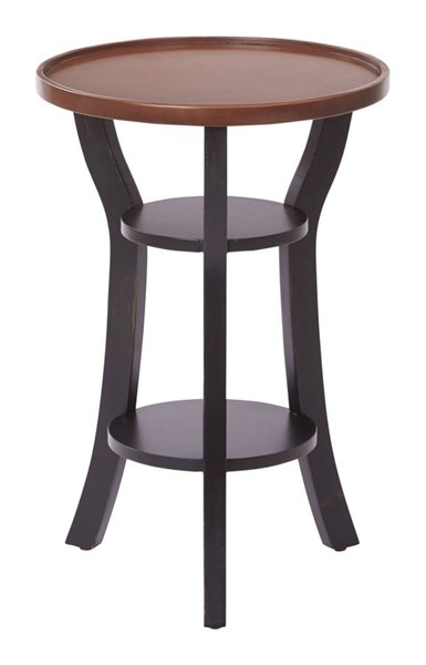 Casey Transitional Wood Round Accent Table OSP-CAS6497-ACTBL-VAR
