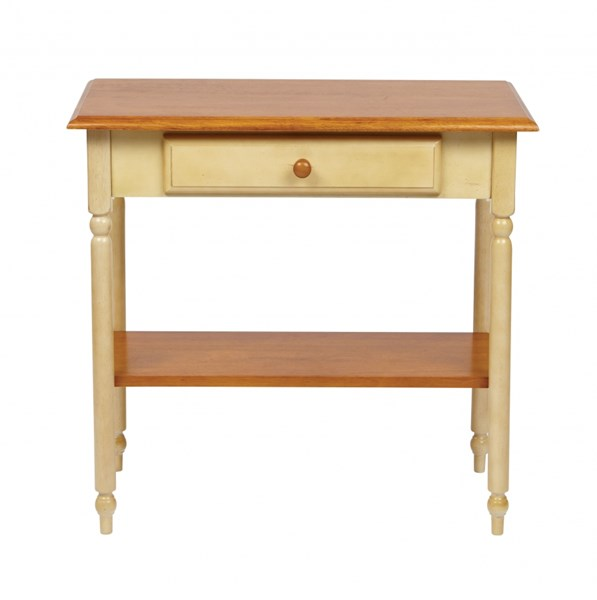 Country Cottage Transitional Buttermilk Cherry Solid Wood Foyer Table OSP-CC07
