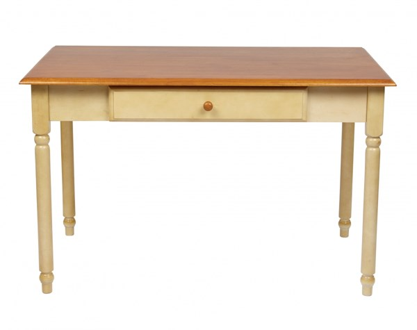 Country Cottage Transitional Buttermilk Cherry Solid Wood Desk OSP-CC25