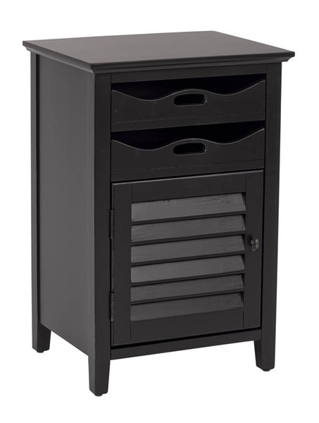 Charlotte Rustic Brushed Black Wood Fully Assembled Chair Side Table OSP-CHR08AS-AC11