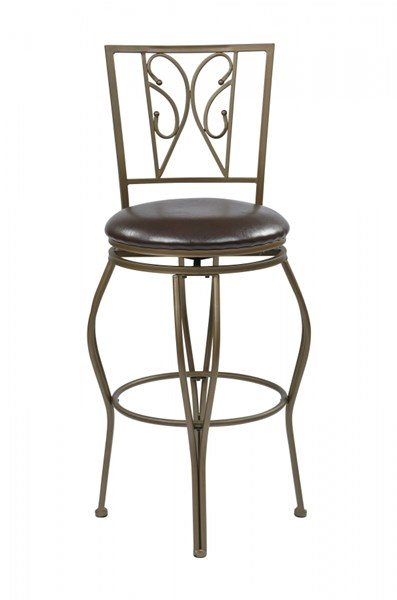 Cosmo Contemporary Espresso Faux Leather 30 Inch Swivel Metal Barstool OSP-CSM2730-ES