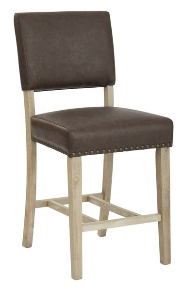 Carson Elite Espresso Bonded Leather Solid Wood Legs Counter Stool OSP-CSN24-BD2