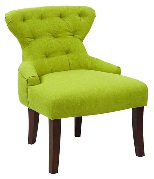 Curves Traditional Cactus Fabric Solid Wood Hour Glass Accent Chair OSP-CVS26-L5