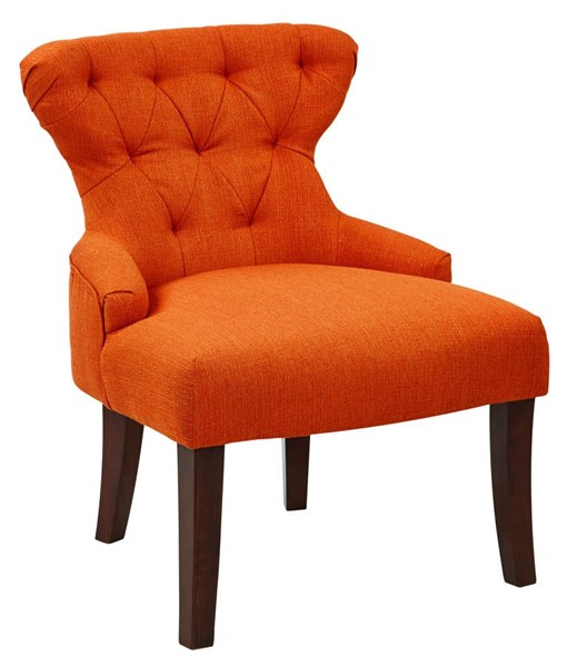 Curves Traditional Penny Fabric Solid Wood Hour Glass Accent Chair OSP-CVS26-L6